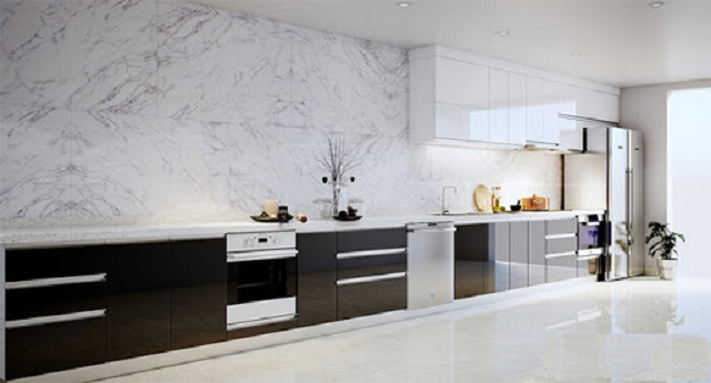 Gian bếp đẹp hơn với gạch ốp tường