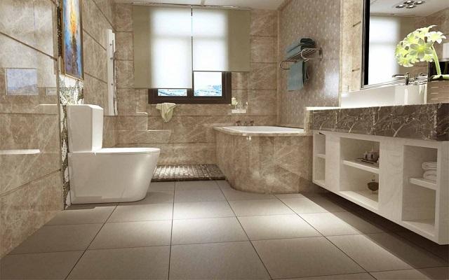 Mẫu gạch ốp nền cho nhà vệ sinh