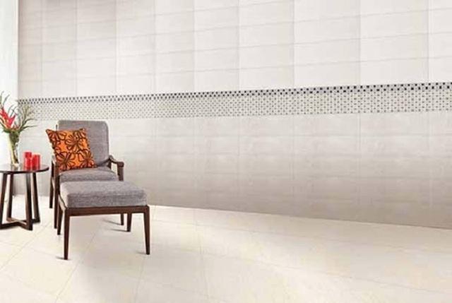 Ảnh 1: Các mẫu gạch ốp chân tường phòng khách Viglacera đẹp ấn tượng