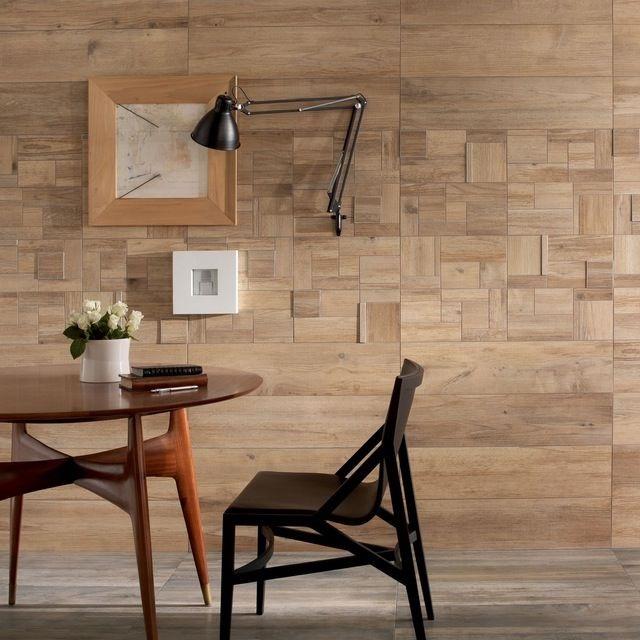 Ảnh 20: Gạch giả gỗ ốp lát trang trí phòng khách theo xu hướng hiện nay