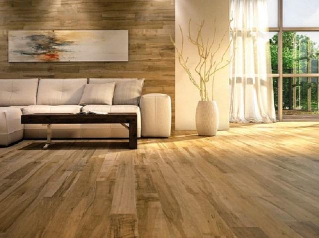 Ảnh 3: Kết hợp gạch giả gỗ mang đến không gian hài hòa vô cùng ấn tượng