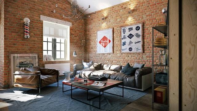 Ảnh 30: Trang trí phòng khách bằng gạch gốm tạo nên phong cách độc đáo cho ngôi nhà