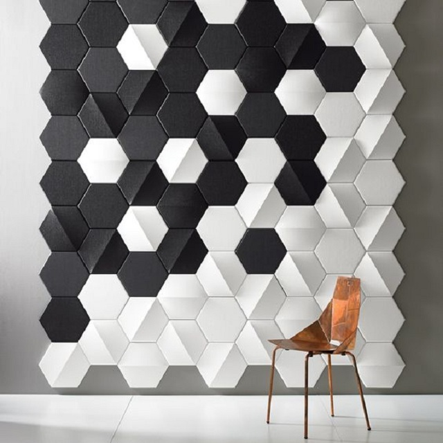 Ảnh 32: Trang trí gạch ốp tường phòng khách mang đến vẻ đẹp lạ mắt đầy ấn tượng