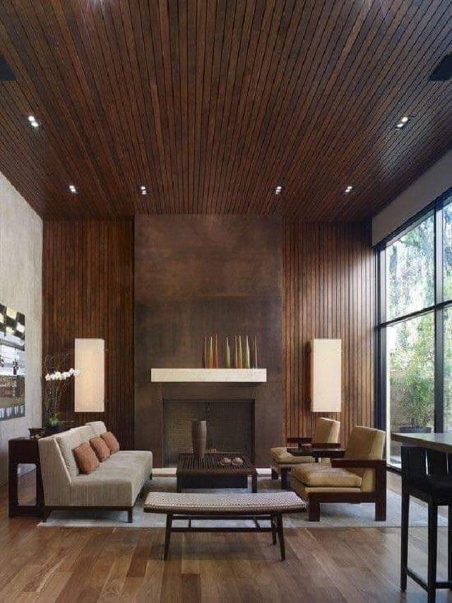 Ảnh 4: Mẫu gạch Viglacera giả vân gỗ kết hợp cùng cách bố trí nội thất hiện đại