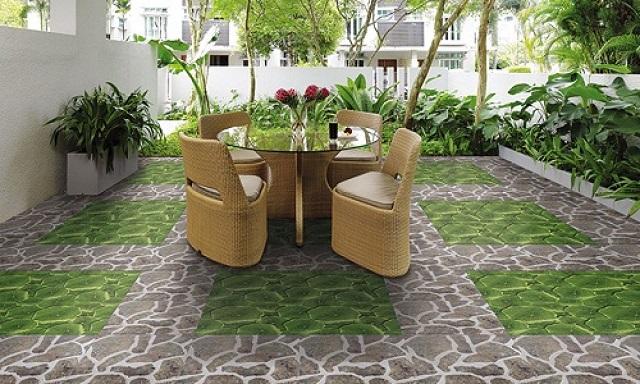 Gạch được sử dụng để lát sân vườn