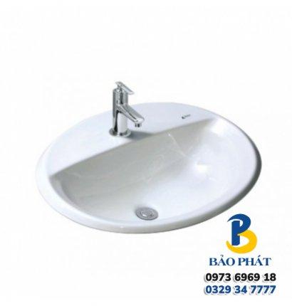 Chậu Rửa Lavabo Âm Bàn Inax L-2395V Dương Vành